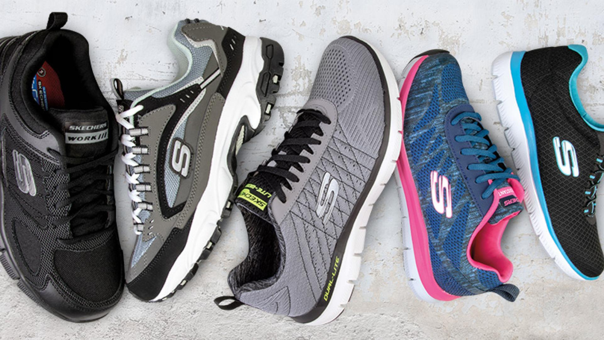 Variety of Skechers gym shoes